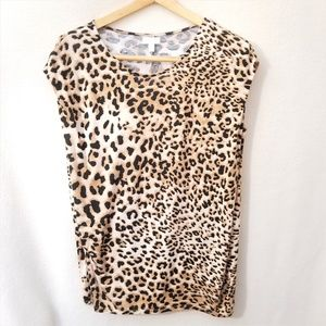 Charming Charlie Leopard Print Sleeveless top